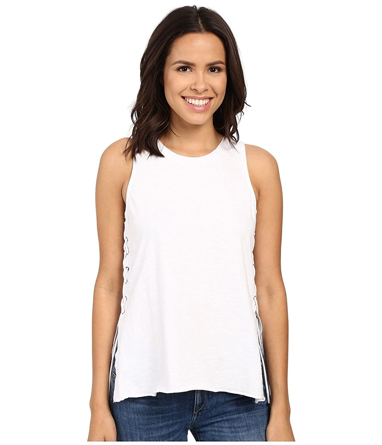 Blank NYC Women's Tank Top with Lace-Up Detail