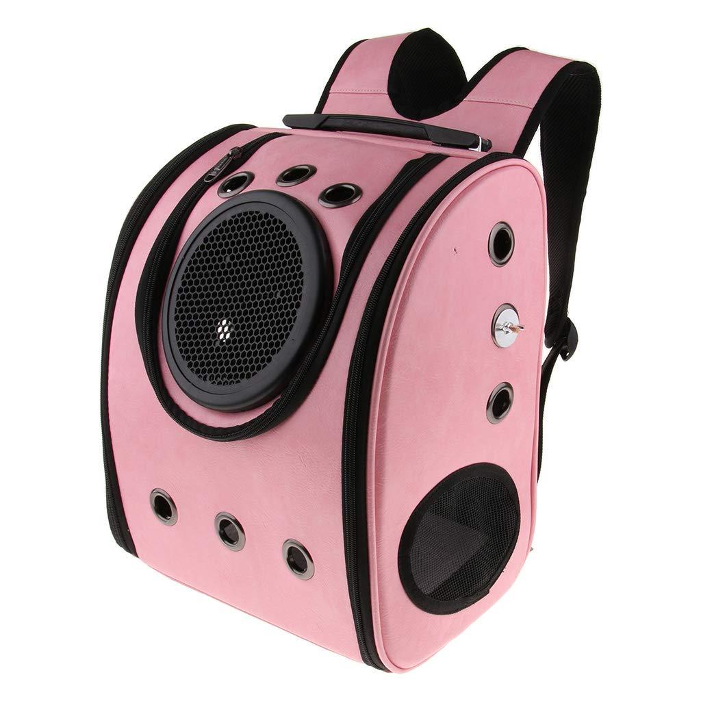 Pink Homyl Pet Bird Portable Outdoor Travel Cage Perch Bag Parrot Portava Backpack, Yellow /Pink Pink