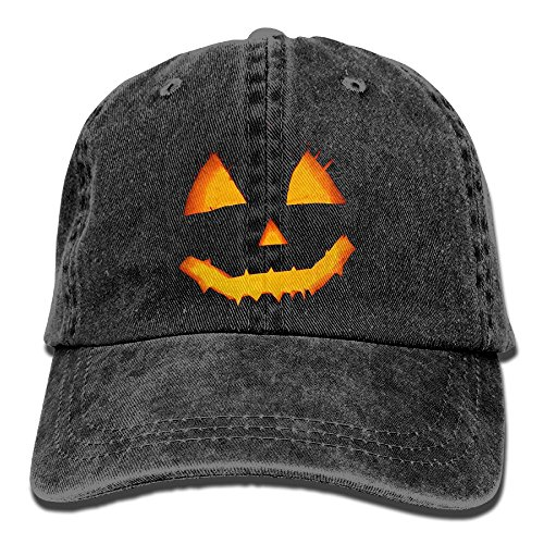 Uanqunan Cartoon Pumpkin Unisex Cotton Denim Baseball Cap Adjustable Strap Low Profile Plain Hats (Halloween Wars Season 1 Cast)