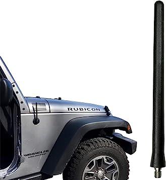 Blue JEEP Wrangler Antenna Sahara Unlimited Sport JK 5.5 Inches Short All Models