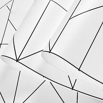 Modern Black And White Geometric Stripes Wallpaper Tv