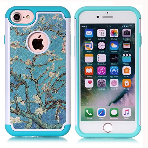 - Iphone 7 Case, Iphone 8 Case, Vincent Van Gogh Blossoming Almond Tree Pattern Shock-Absorption Hard PC and Inner Silicone Hybrid Dual Layer Armor Defender Case Cover for Apple iphone 7 and iphone 8