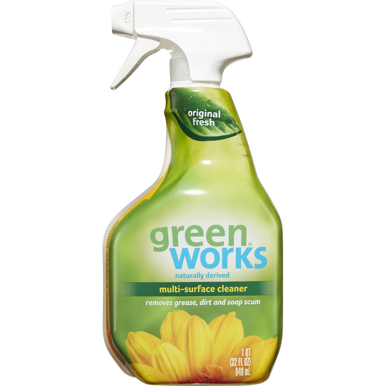 Green Works Multi-Surface Cleaner, Cleaning Spray - Original Fresh, 32 Ounces (Pack of 3)