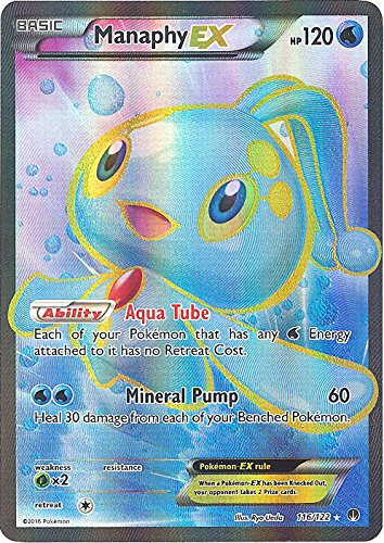 da46e6280656d Amazon.com: Pokemon - Manaphy-EX (116/122) - XY Breakpoint - Holo: Toys &  Games
