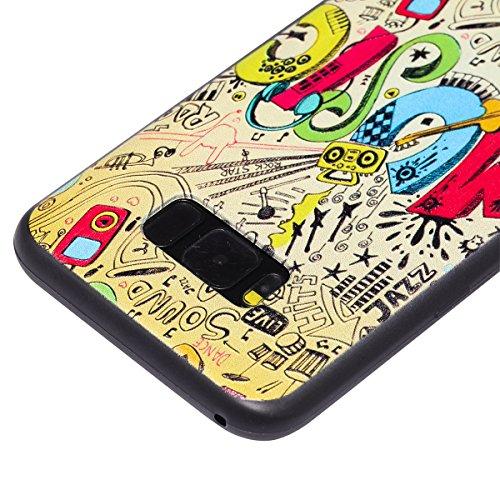 Funda Samsung Galaxy S8 Plus, Carcasa Samsung Galaxy S8 Plus G955, JAWSEU Samsung Galaxy S8 Plus Carcasa Cover Caso Creativa Diseño de Animados 3D Ultra Delgado Suave TPU Silicona Carcasa Funda para S Alivio Música