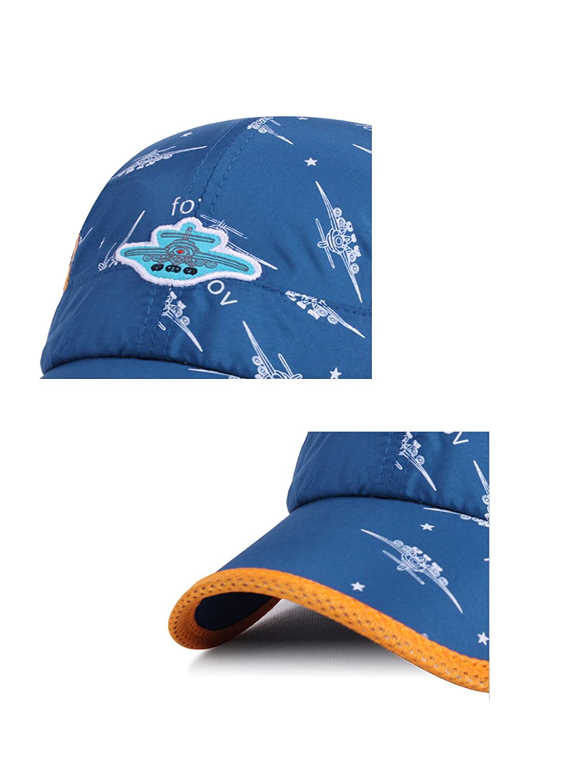 a069637c52a Amazon.com  Kids Boys Girls Cool Summer Baseball Caps Lightweight Quick Dry  Sun Hat(3Y-8Y)  Clothing