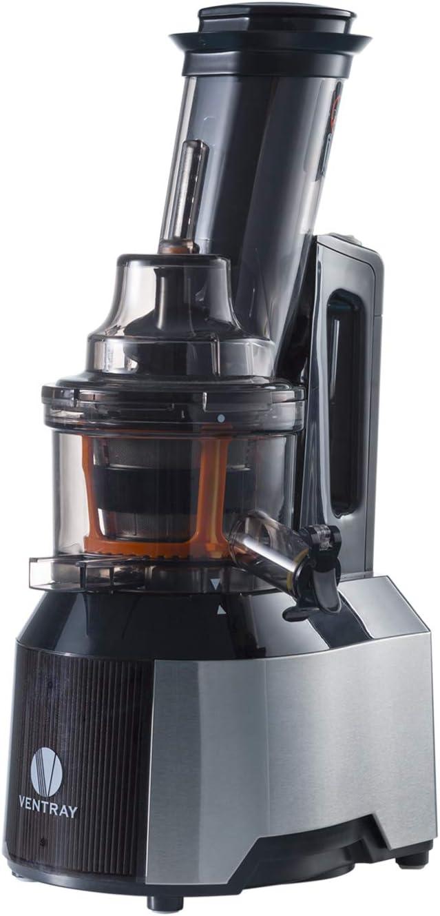 Extracteur de jus masticateur Ventray Extracteur de jus Basse vitesse avec une large goulotte et une grande ouverture Extracteur de jus Pressoir /à froid Noir
