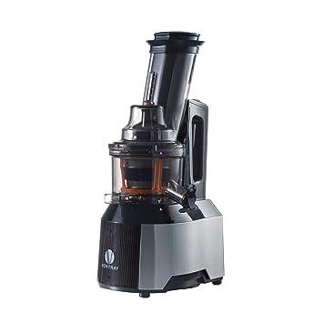 Exprimidor masticador Ventray - Exprimidor lento con boca de entrada grande y ancha - Máquina para hacer zumos de prensado en frío - Color negro: Amazon.es: ...