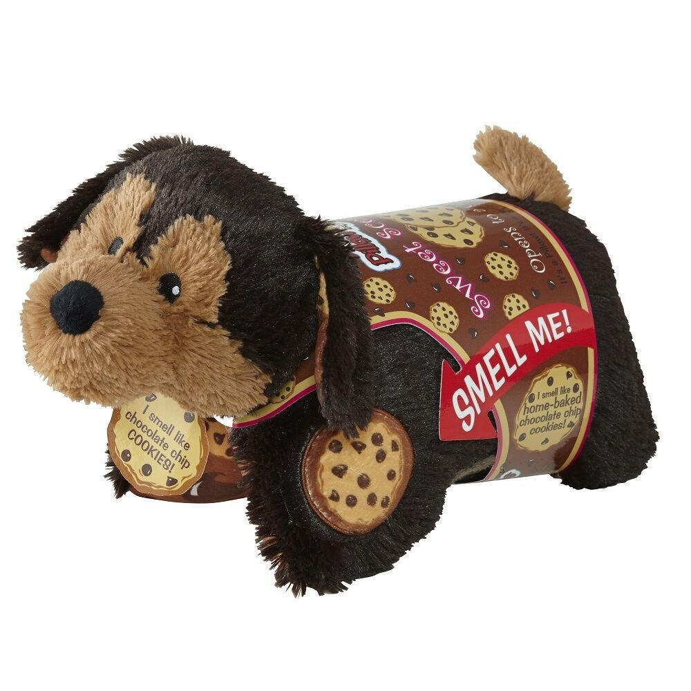 Pillow Pets Sweet Scented Pets - Chocolate Chip Cookie Pup, Cookie Scented Stuffed Animal Plush Toy