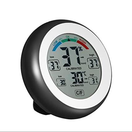 SXWY ° C / ° F Pantalla Táctil Termómetro Digital Higrómetro Temperatura Y Humedad Metro Pantalla