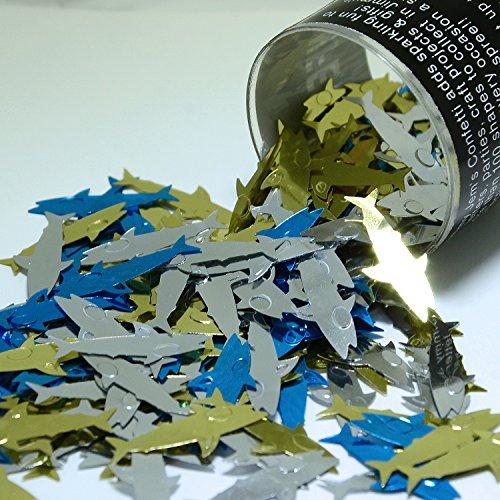 Confetti Shark Blue, Silver, Gold - Retail Pack #8218 - Free Ship
