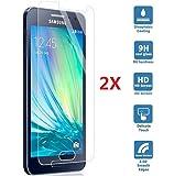 2 X Samnsung A5 2016 Film Protection en Verre Trempé écran Protecteur Glass Screen Protector pour Samsung Galaxy A5 2016 SM-A510F Protection Ecran