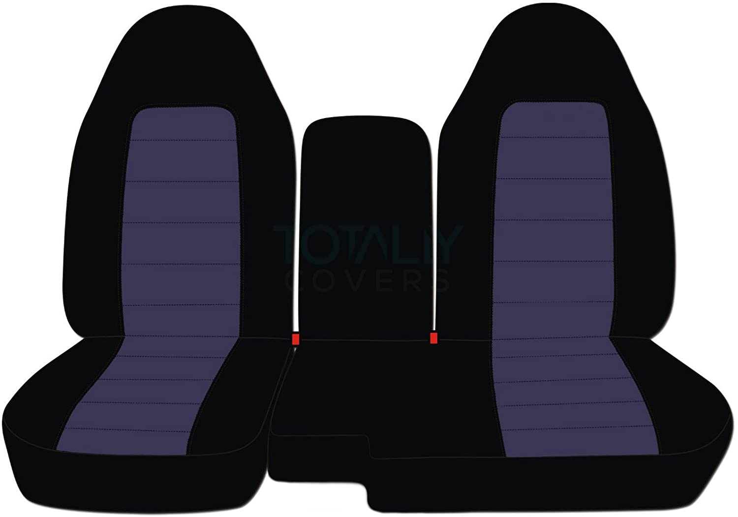 w Center Console//Armrest Cover: Black /& Blue Gray 60//40 Split Bench Totally Covers Fits 2004-2012 Ford Ranger//Mazda B-Series Two-Tone Truck Seat Covers 21 Colors 2005 2006 2007 2008 2009 2010 2011