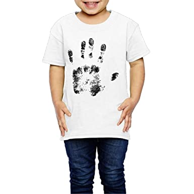 6feeff46c126 Amazon.com  Handprint Black Children s T-Shirt Pretty 100% Cotton ...
