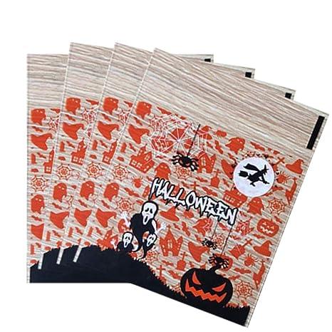 SUPVOX 100 piezas bolsas de golosinas de halloween bolsas de ...