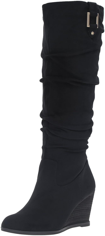 Dr. Scholl's Women's Poe Slouch Boot B01DF0BBH2 6.5 B(M) US|Black Microsuede