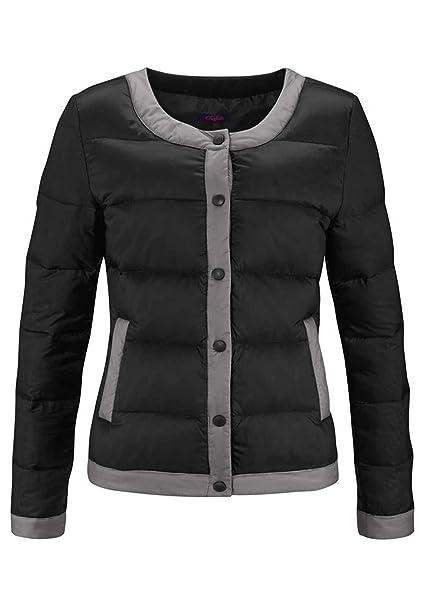 Buffalo Mujer Buffalo corta chaqueta ligera de plumón acolchada chaqueta corta de Buffalo negro 32