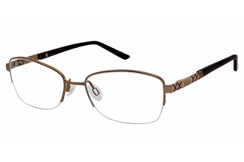 Elle Womens Eyeglasses EL13438 EL//13438 Half Rim Optical Frame 52mm