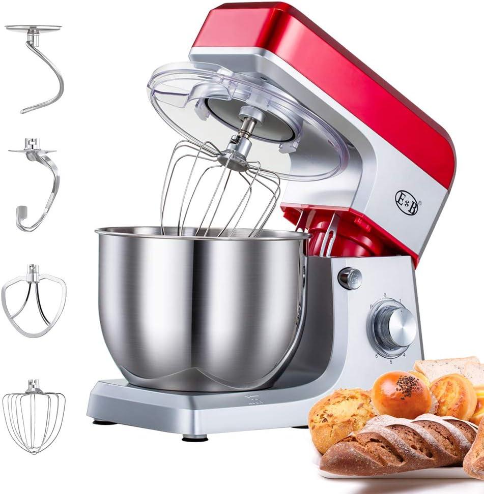salsa frusta e coltello per impastare mixer elettrico regolabile a 6 velocit/à con gancio per impastare Robot da cucina robot da cucina con testa inclinabile con ciotola da 7 litri insalata
