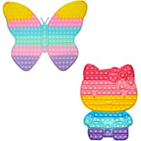 GrabMantra Butterfly and catty Pop It Big Fidget Sensory Toy Rainbow Square Huge Gaint Jumbo Game Gift Autistic Pop its…