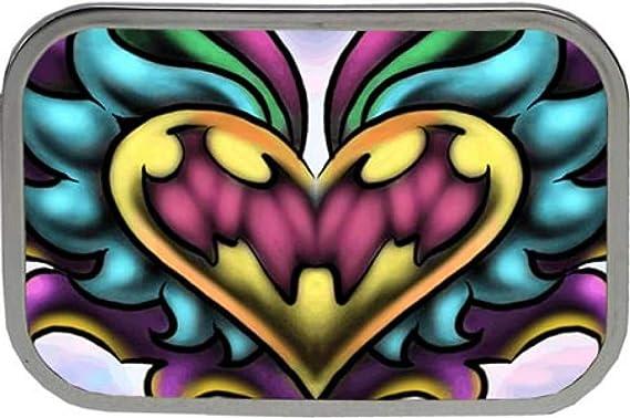 Hebilla con colorido Tatuaje Corazón, Hebilla: Amazon.es: Ropa y ...