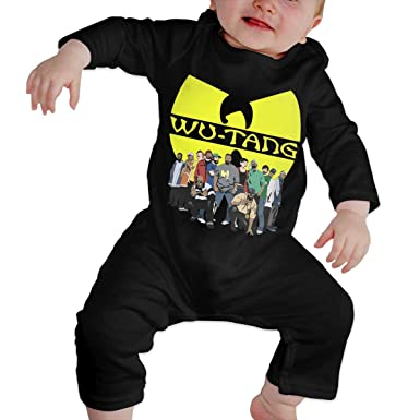 Amazon.com  TiaKudy Wu Tang Hip-HOP Baby Boys  Girls  Long Sleeve Bodysuits Jumpsuit  Romper Outfit One-Piece  Clothing 79dc7e45cd7