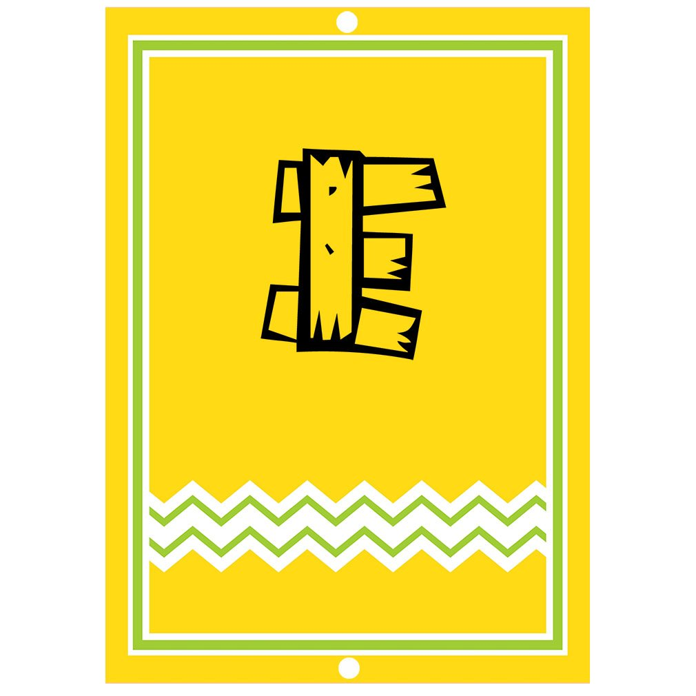 ''E '' Wood Initial Monogram Personalized Letter E Blue Room Nursery Décor METAL Sign Yellow