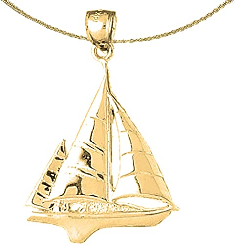 Rhodium-plated 925 Silver Sailboat Pendant with 18 Necklace Jewels Obsession Silver Sailboat Necklace