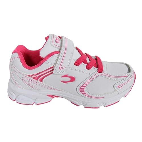 Zapatillas Deporte de Niño y Niña y Mujer JOHN SMITH Roxi L 14I Blanco-Rosa Fucsia: Amazon.es: Zapatos y complementos