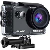 30M Waterproof Camera 2.0-inch LCD Screen 170° Wide Angle Lens HDMI Output Motion Camera Attached to Bicycle/Cart/Motorcycle Sports Camera (Black)