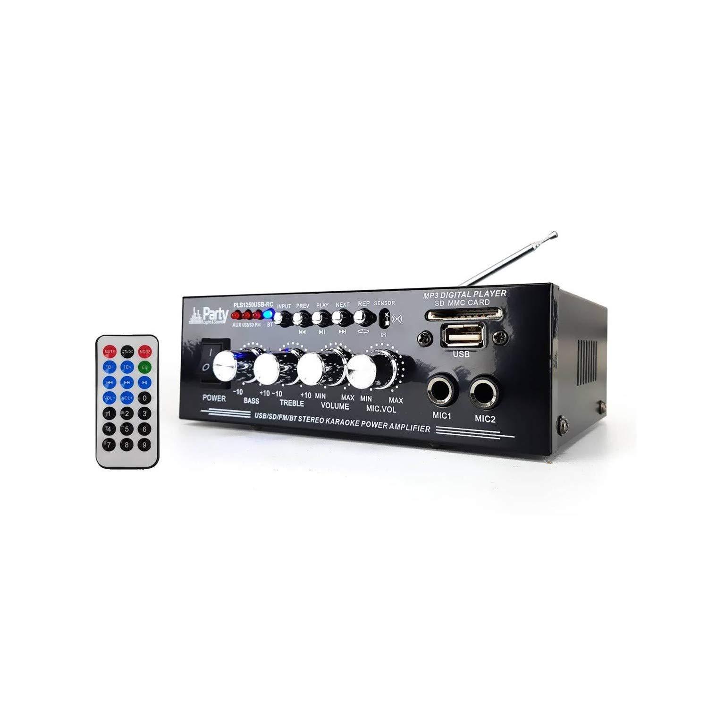 Amplificador karaoke 50 W - USB/Bluetooth/SD/FM + mando a ...