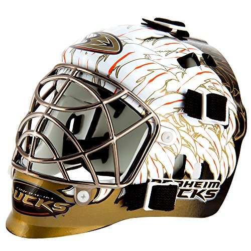 Franklin Sports NHL Anaheim Ducks League Logo Mini Goalie Mask - Anaheim Ducks Merchandise
