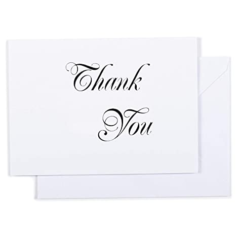 Amazon Com Thank You Cards 100 Count Letterpress Cards With