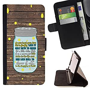 BullDog Case - FOR/Samsung Galaxy S6 EDGE / - / a bottle of milk tells you what to do /- Monedero de cuero de la PU Llevar cubierta de la caja con el ID Credit Card Slots Flip funda de cuer