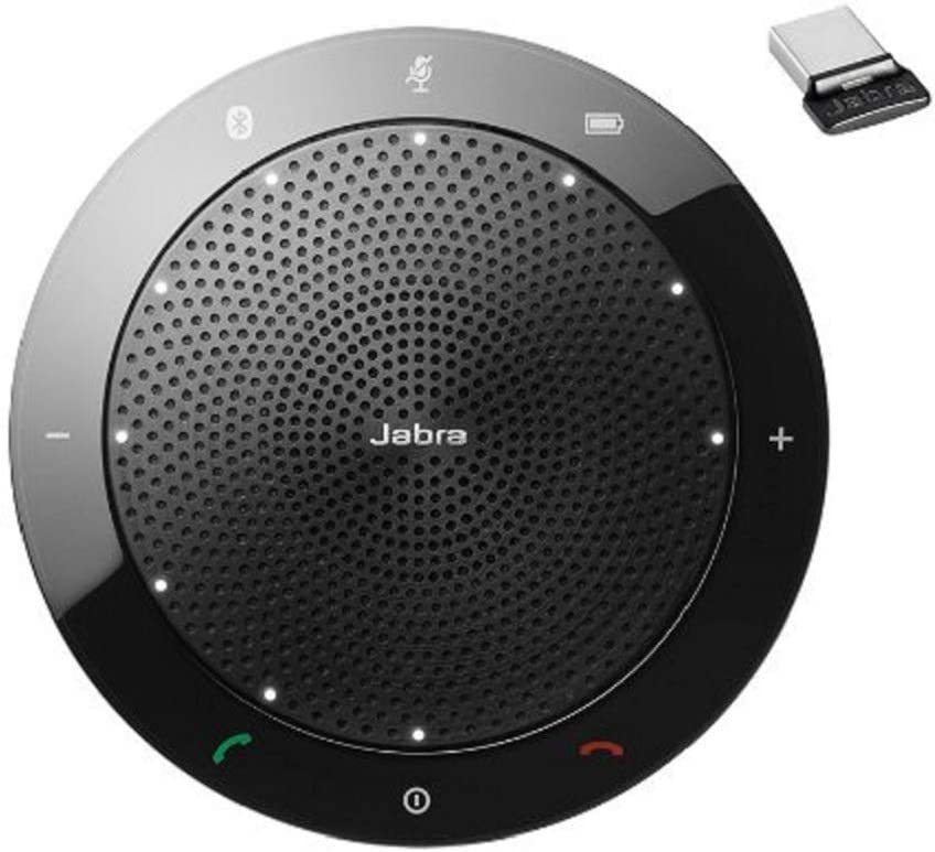 Jabra SPEAK 510+ UC - Altavoces (Inalámbrico y alámbrico, USB/Bluetooth, 3.5 mm, Cisco, Avaya, Siemens) Negro