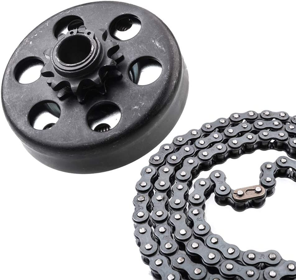 "MOOSUN Minibike Go Kart Clutch 3/4"" Bore 10 Tooth with #40/41/420 Chain"