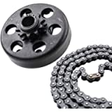 MOOSUN Minibike Go Kart Clutch 3/4' Bore 10 Tooth with #40/41/420 Chain