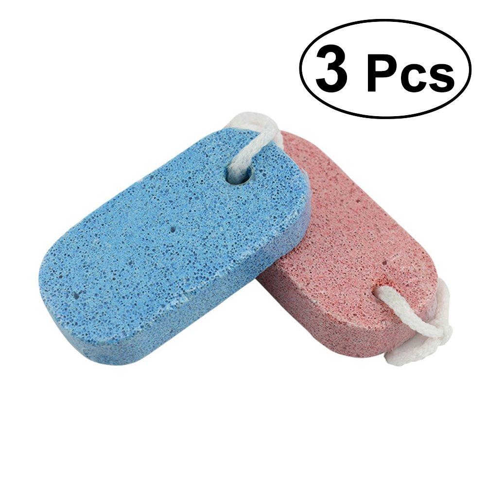 Rosenice 3pezzi di pietra pomice per la pedicure e strumento di esfoliazione naturale