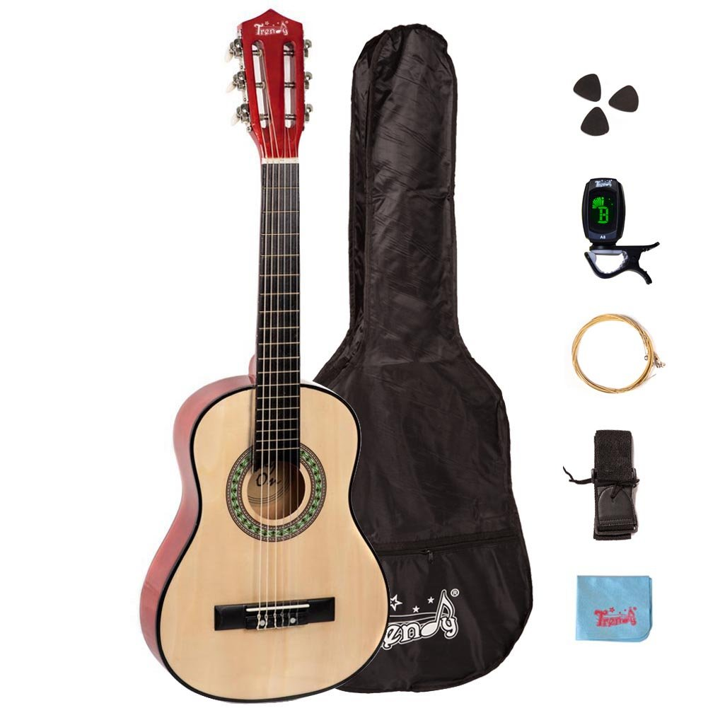 Trendy 30 インチ クラシックギター (1/2 Size), Package, Basswood, Nature アコースティックギター アコギ ギター (並行輸入)   B00Y0HI6UA