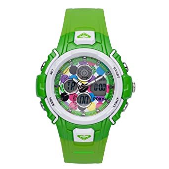 Roxy Ladies Digital Roxy Run Watch W216ARAGRN With Polyurethane Strap