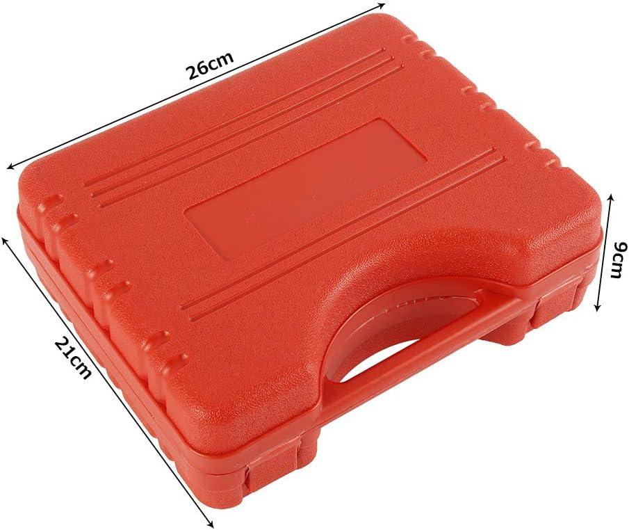 Vacuum Tester Car Auto Vacuum Bleeding Test Tool Set with a Red Carrying Case 78Henstridge Brake Bleed Kit 20pcs Hand Held Vacuum Pressure Pump Brake Bleeder Adaptor