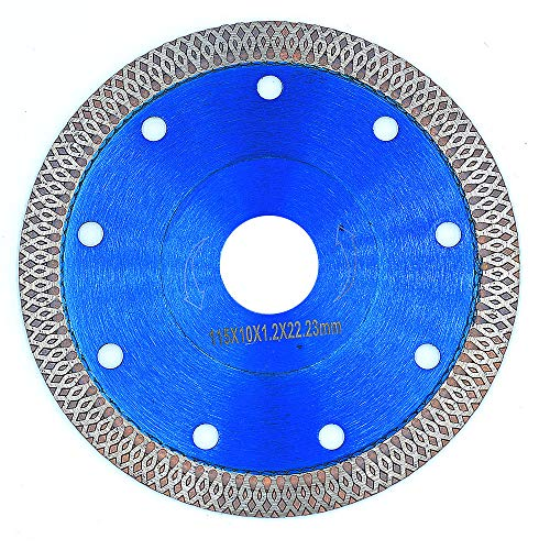 Supper Thin Diamond Tile Blade Porcelain Saw Blade for Cutting Porcelain Tile Granite Marbles (4.5