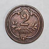 1903 AT Austrian 2 Heller Coin 2H XFAU
