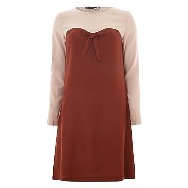 5dde8ba4f1a798 Femmes Love Moschino rose et rouge crepe Robe de dames (10 - rose ...