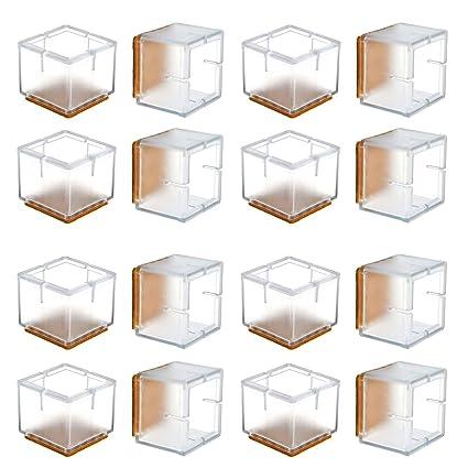 Chair Leg Floor Protectors Warmhut 16pcs Transparent Clear Silicone