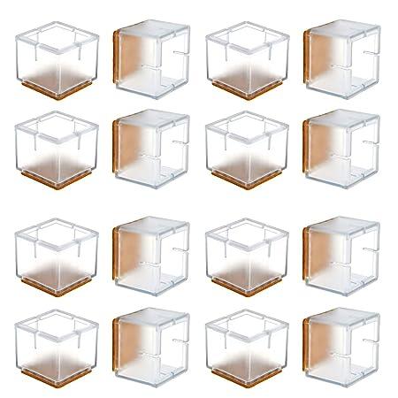 WarmHut Tapones de silicona para patas de silla, 16 piezas ...