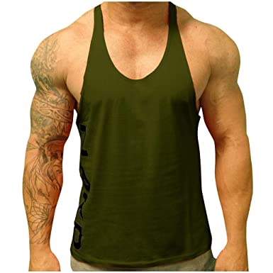 73c57e4e3e009 UINGKID Débardeur Homme de Sport Marcel Haut Top T-Shirt Maillot de Corps  sans Manches