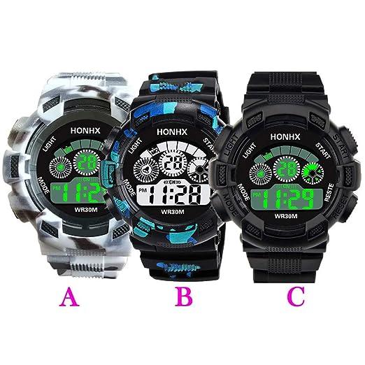 Beladla Relojes Hombre Camuflaje Impermeabl Deportes Al Aire Libre Multifuncionales Relojes Reloj Digital: Amazon.es: Hogar