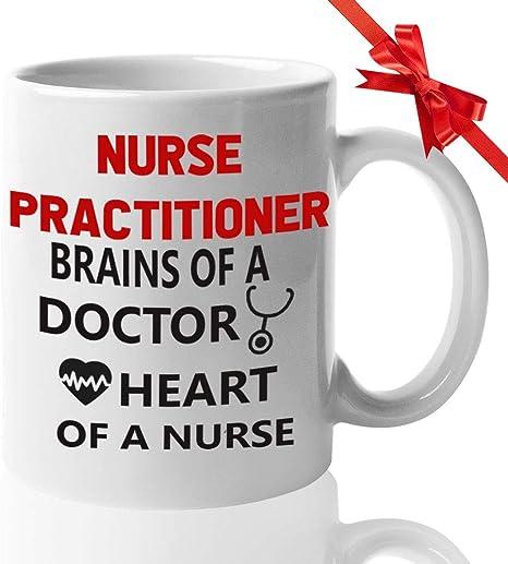 Amazon Com Nurses Funny Coffee Mugs 11oz For Doctor Rn Idea For Nurses Week Nursing Student Nurse Appreciation Week Future Doctor Nicu Nurse Practitioner Brains Of A Doctor Heart Kitchen