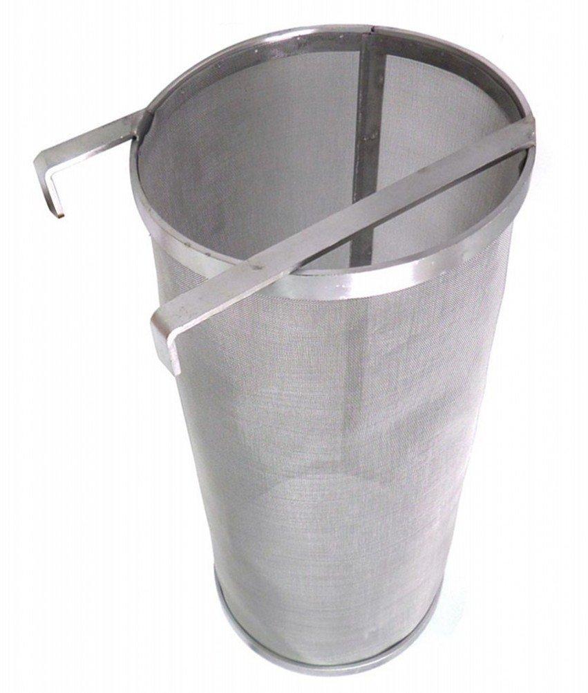 Nasisa Home Beer Brewing Filter Hop Spider 300 Micron Stainless Steel Basket , 5.9'' x 13.78''